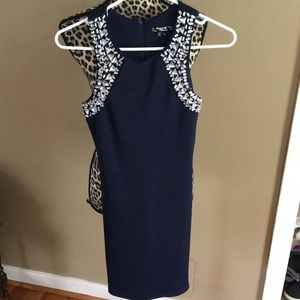 Navy Blue Semi-Formal Dress